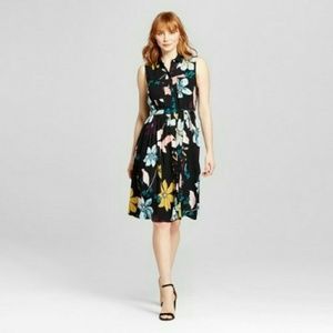 Who What Wear floral button front dress